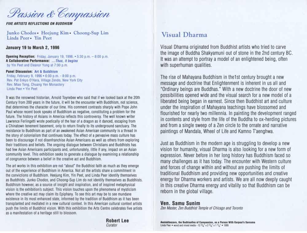 Passion & Compassion, flyer, pg 2