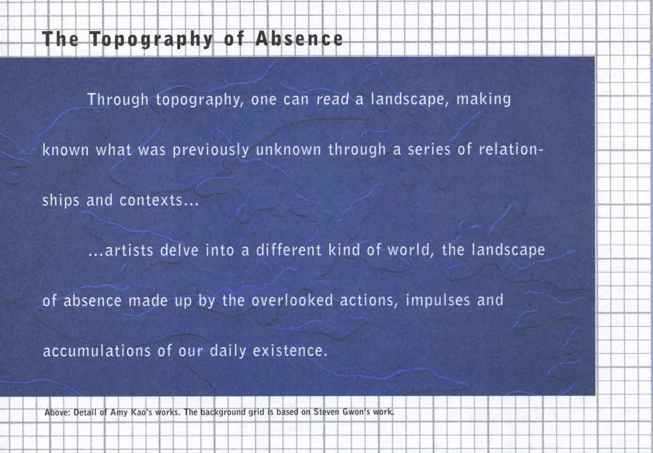 The Topography of Absence, flyer, pg 5