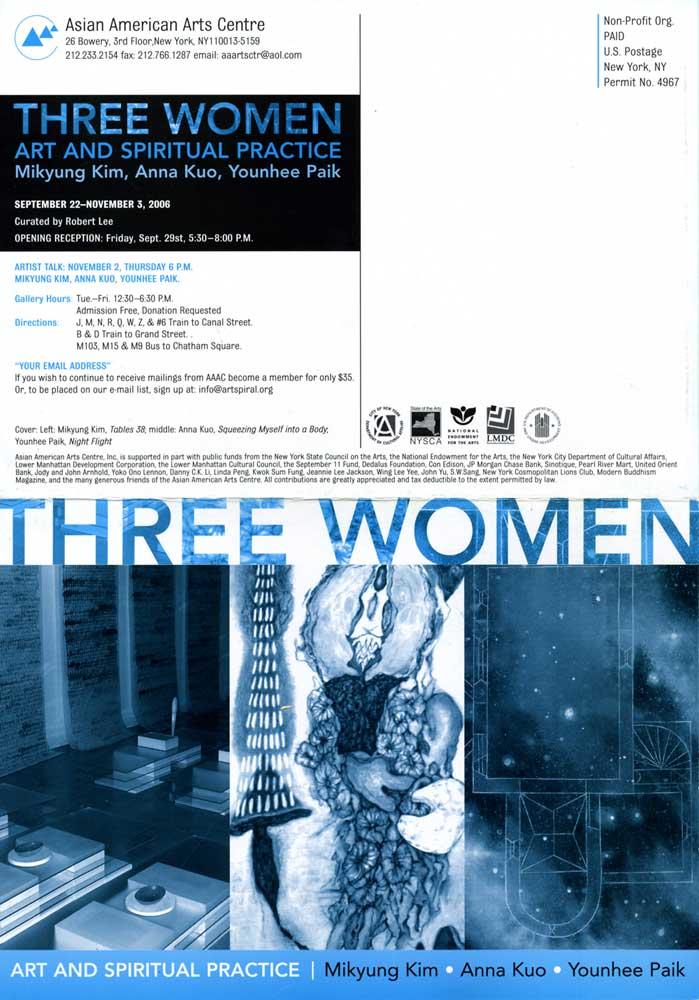 Three Women, flyer, pg 1