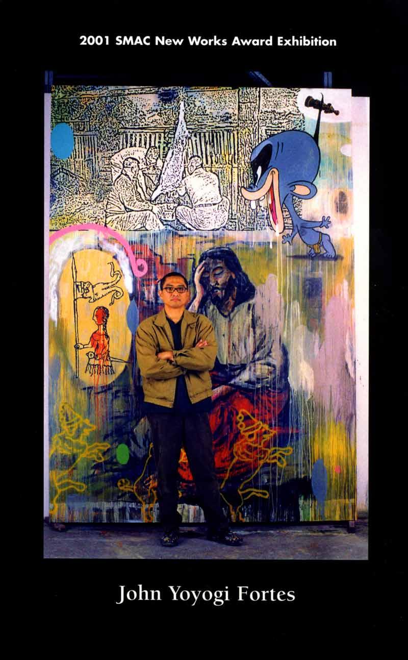 2001 SMAC New Works Award Recipient: John Yoyogi Fortes, postcard, pg 1
