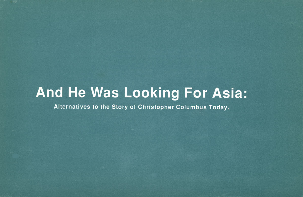 And He Was Looking For Asia, postcard, pg 1