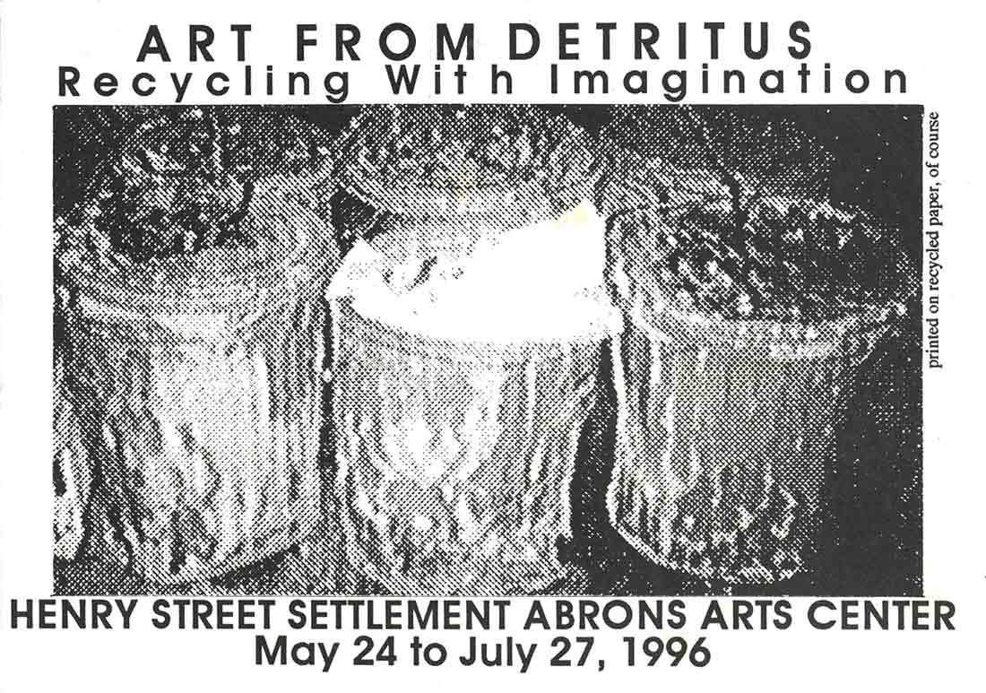 Art from Detritus, postcard, pg 1