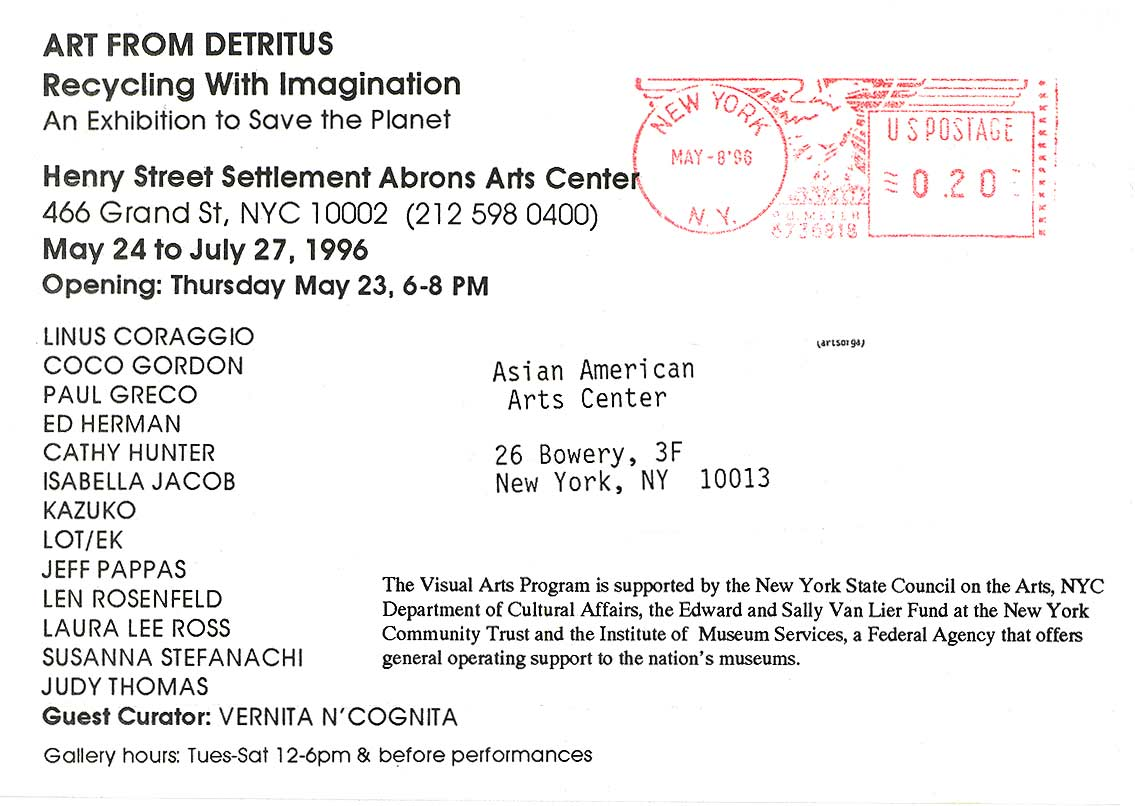 Art from Detritus, postcard, pg 2