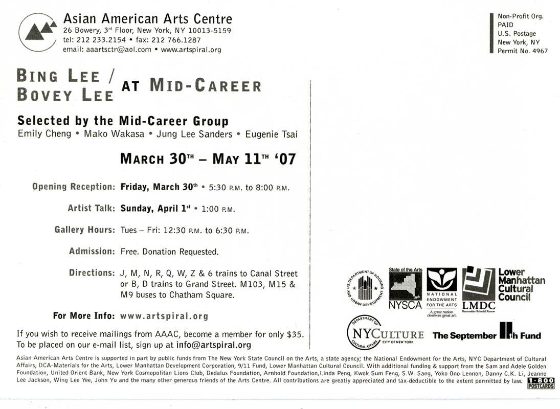 ing Lee/Bovey Lee at Mid-Career, postcard, pg 2