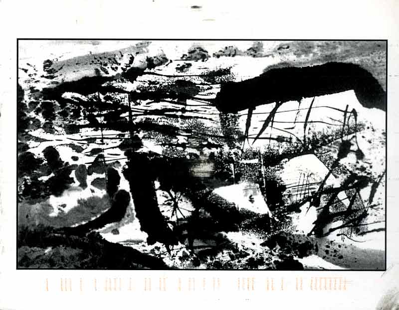 Recent Ink and Performance Works by Zheng Lianjie, postcard, pg 1