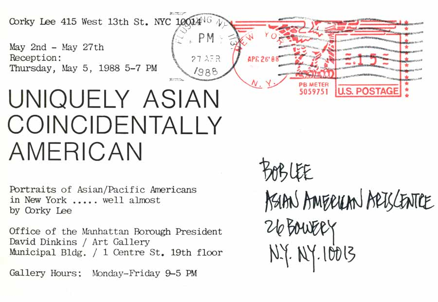 Uniquely Asian Coincidentally American, postcard, pg 2