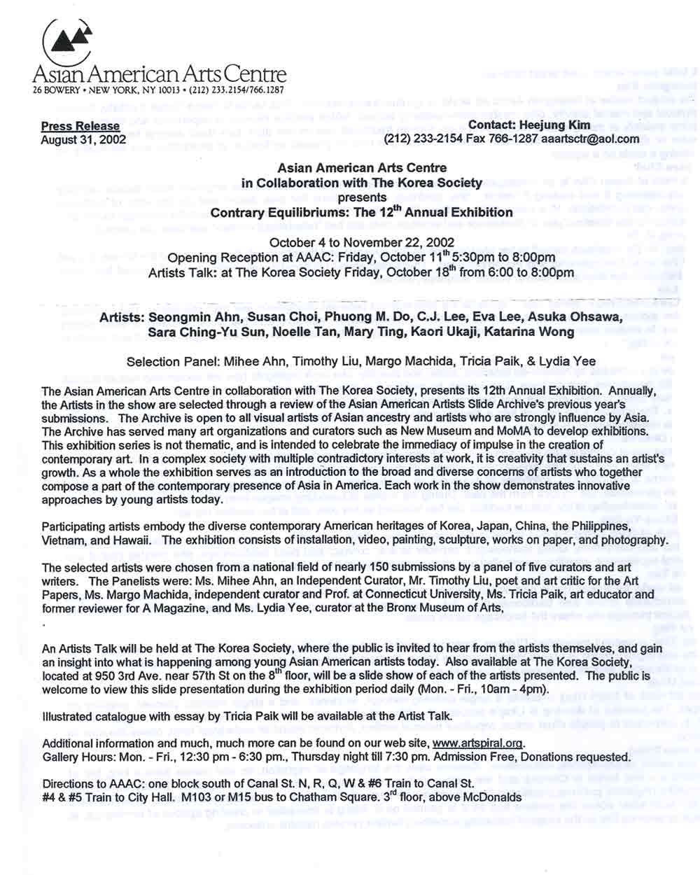 Contrary Equilibriums press release, pg 1