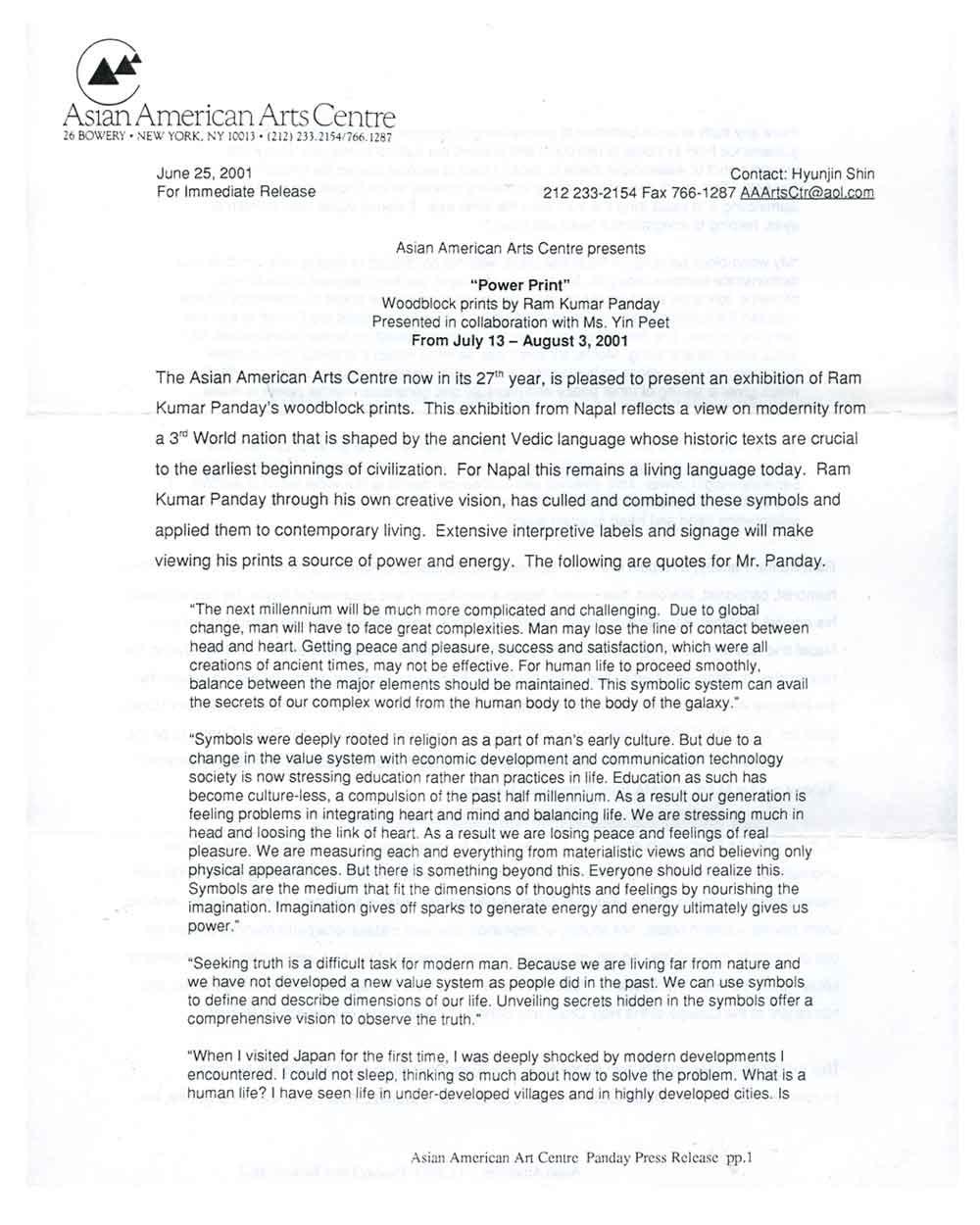 Power Print, press release, pg 1