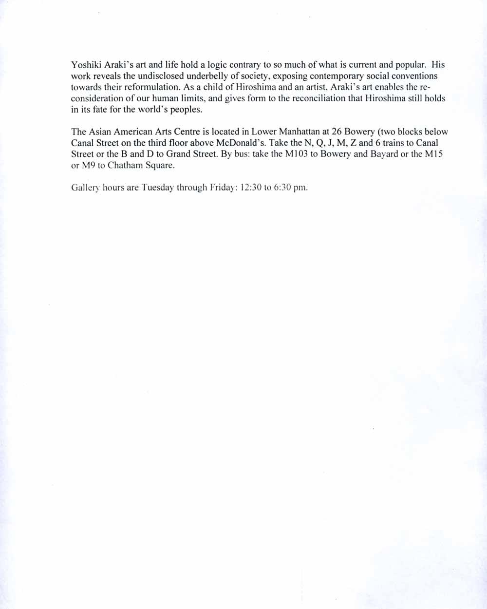 Hiroshima Born press release, pg 2