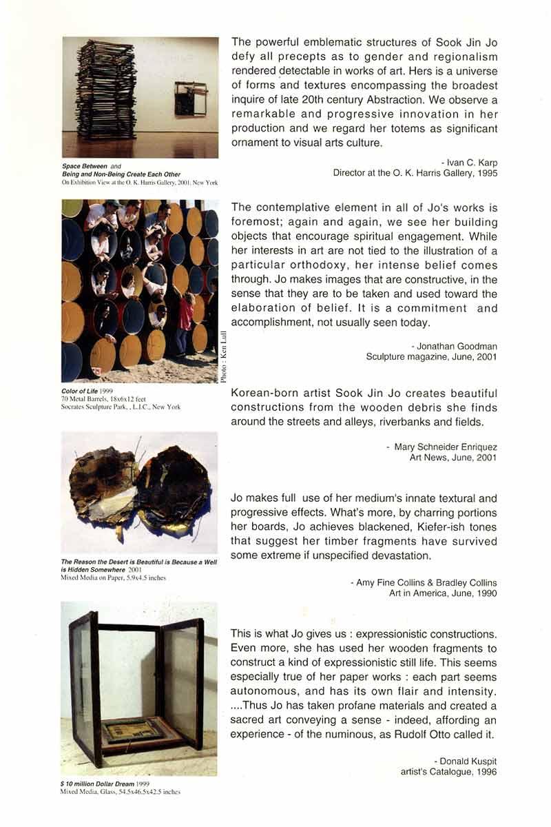 Sook Jin Jo: Wood, Metal, Glass, Paper, pg 5