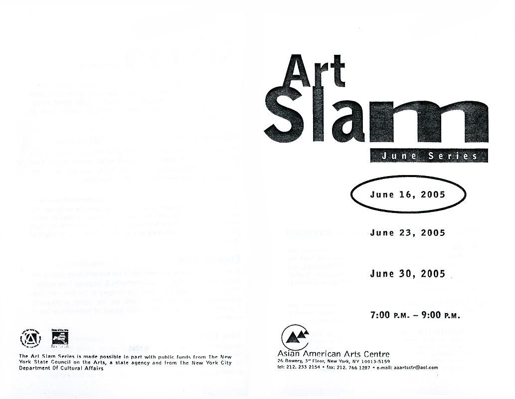Art Slam: June Series, flyer, pg 1