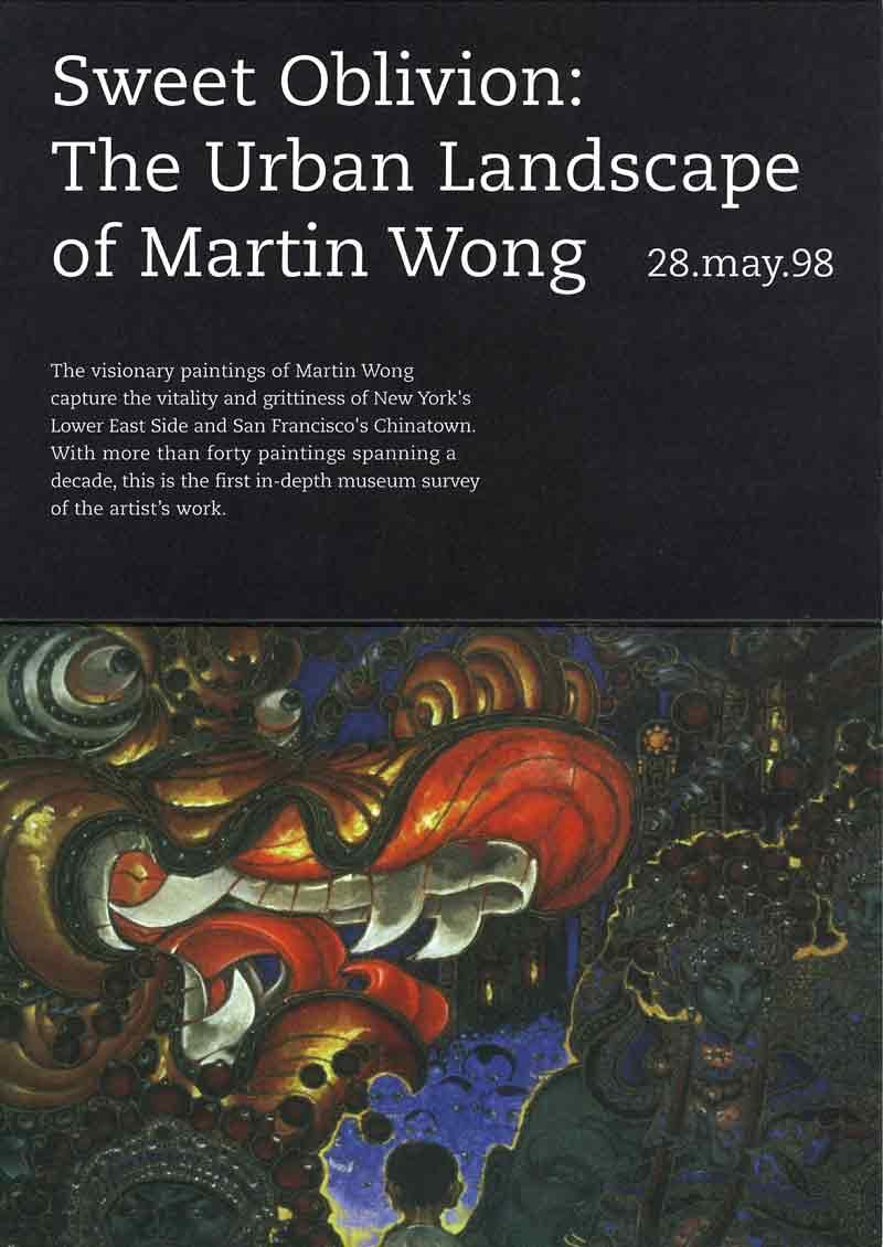 Sweet Oblivion: The Urban Landscape of Martin Wong, flyer, pg 1