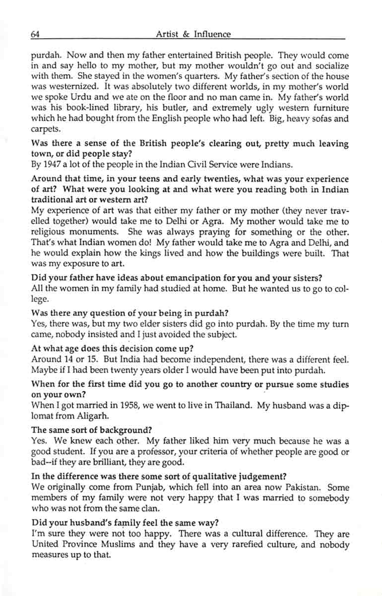 Zarina Hashmi interview, pg 2