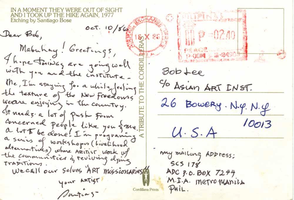 Postcard, pg 1