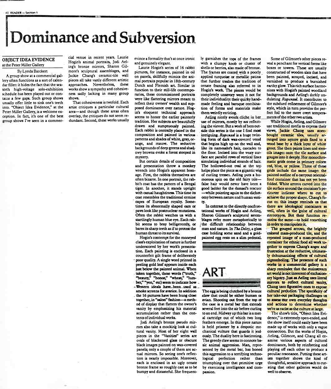 Dominance and Subversion